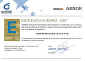 Certificado de Excelencia Europea