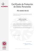 Certificado de Protección de Datos Personales