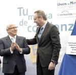 El President de la Generalitat, Alberto Fabra, visita el Ayuntamiento de Burriana y preside el acto de inauguración del nuevo Centro Asistencial de Unión de Mutuas de la localidad. 20/02/2012.