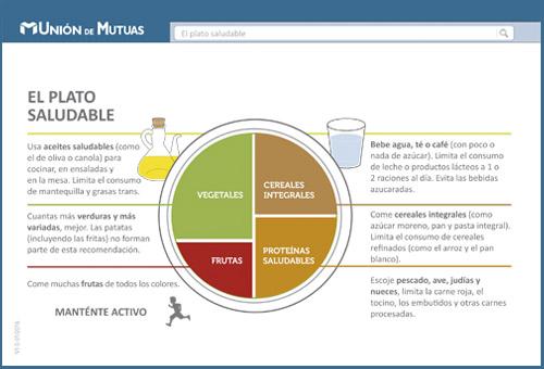 El Plato Saludable - Ficha nutrición